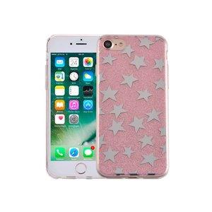 iPhone 8/7 Hardcase Glitter Sterretjes Roze