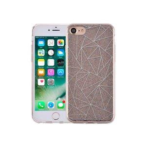 iPhone 8/7 Hardcase Glitter Mozaïek Multicolor