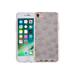 iPhone 8/7 Hardcase Glitter Sterretjes Zilver