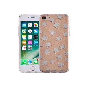 iPhone 8/7 Hardcase Glitter Sterretjes Goud