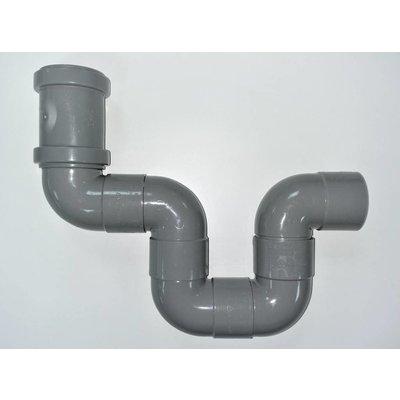 Hoe wordt een sifon bij de onderuitloop douchegoot van  CityLine  toegepast?
