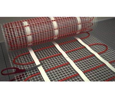 Elektrische vloerverwarming pakketten op mat