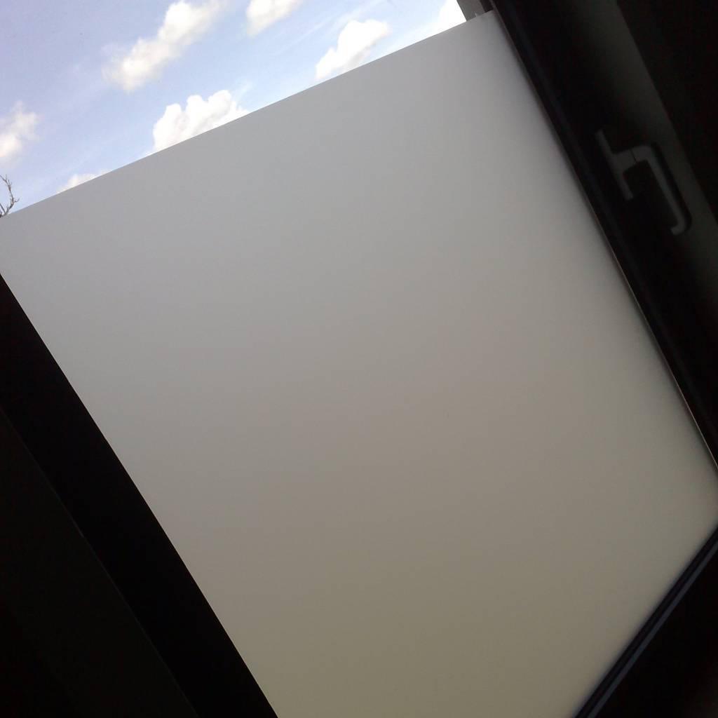 Sandstrahlfilm Proben