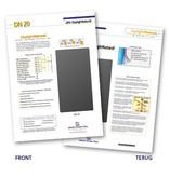 Échantillons de feuille de protection solaire