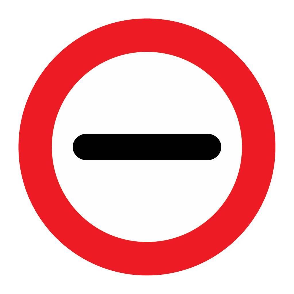Stop. In het bord kan worden aangegeven waarom