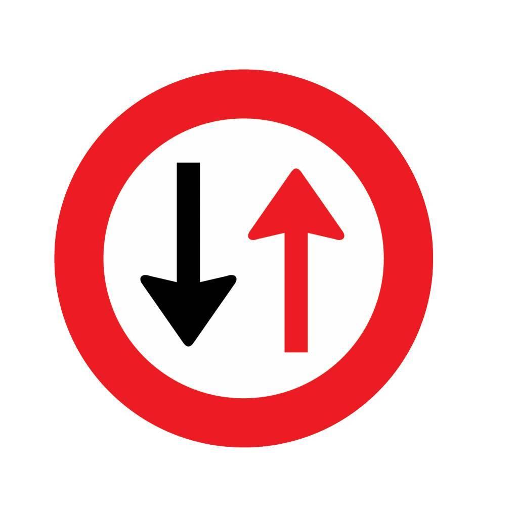 Voorrang verlenen aan verkeer van andere richting 2