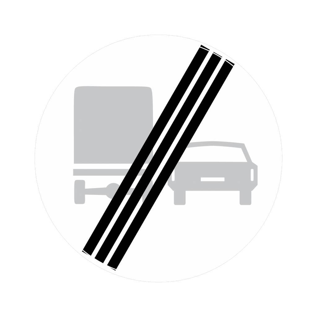 Einde verbod voor vrachtauto's om in te halen