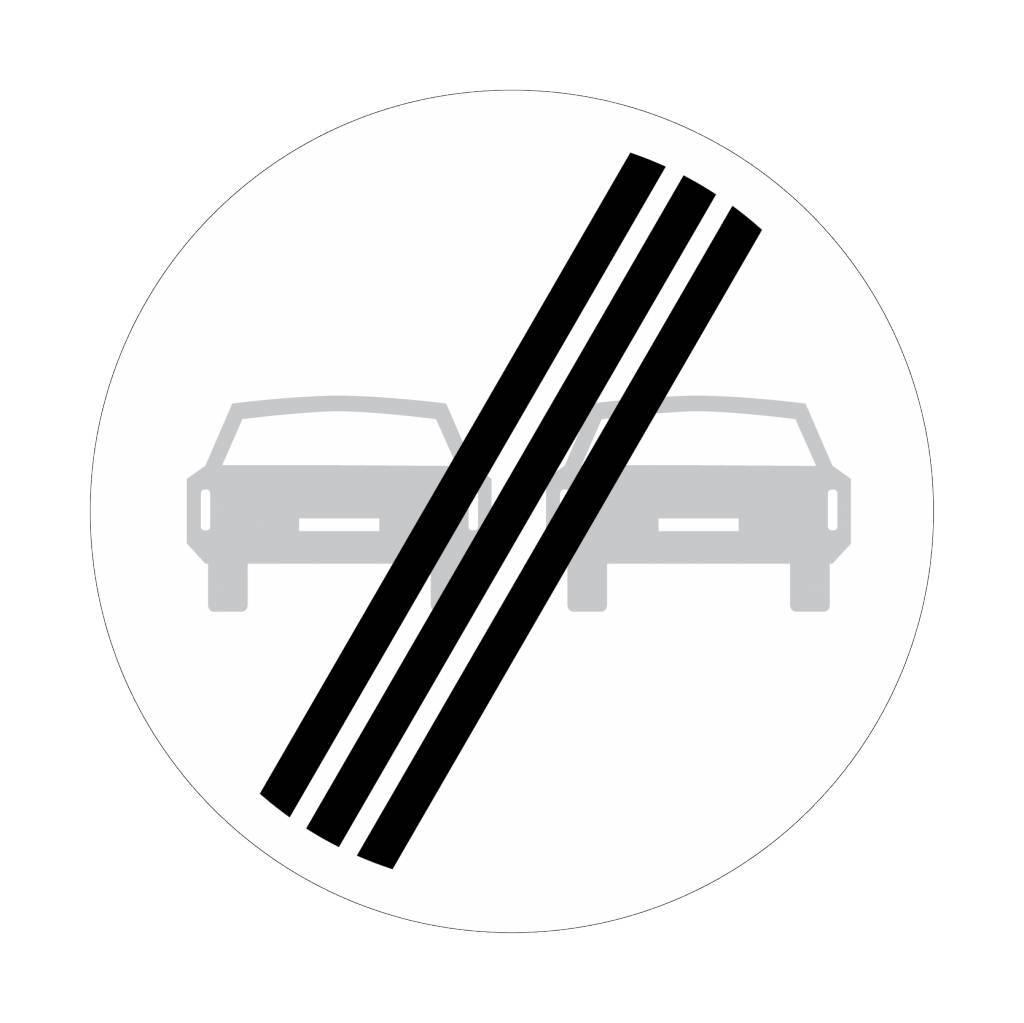 Einde verbod voor motorvoertuigen om elkaar in te halen