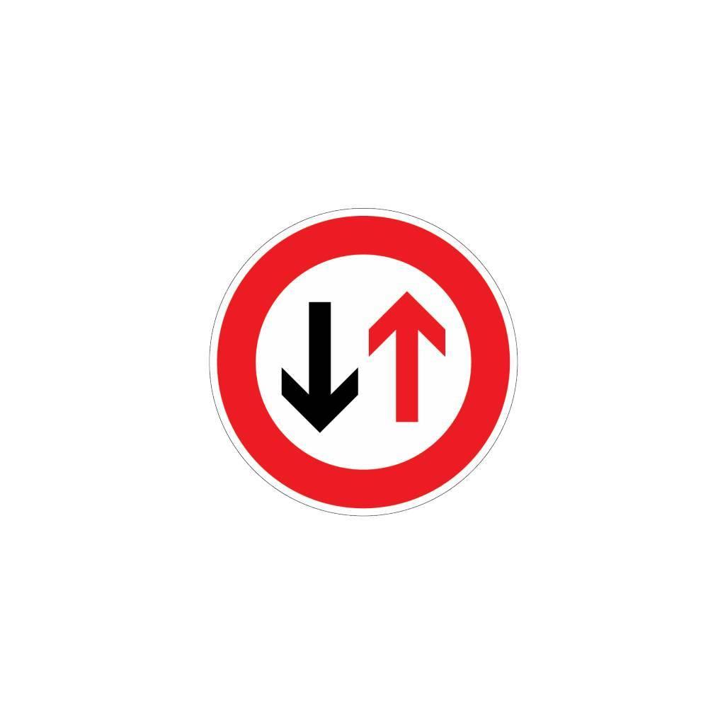 Voorrang verlenen aan verkeer van andere richting
