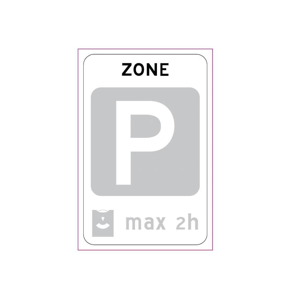 Einde parkeerschijfzone
