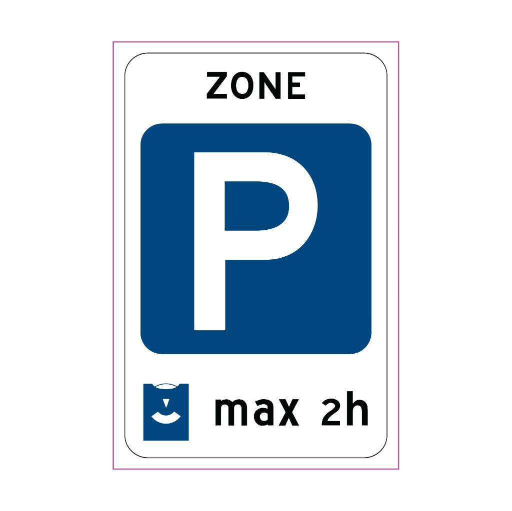 Beginn einer Parkzone