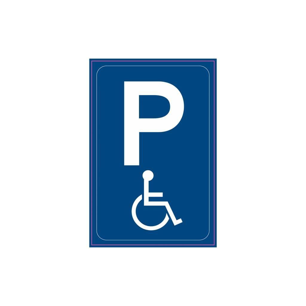 Gehandicapten parkeerplaats