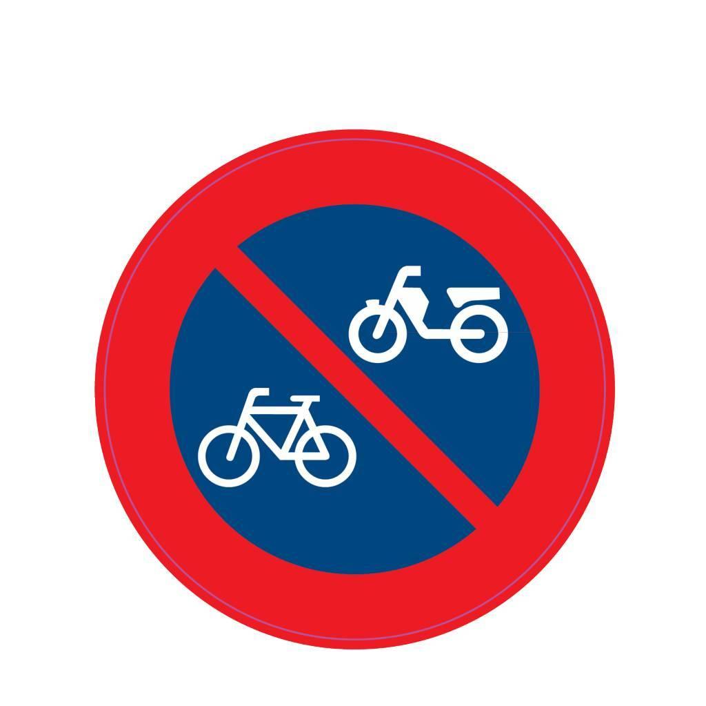 Haltverbot für Mofas, Kleinkrafträder und Fahrräder