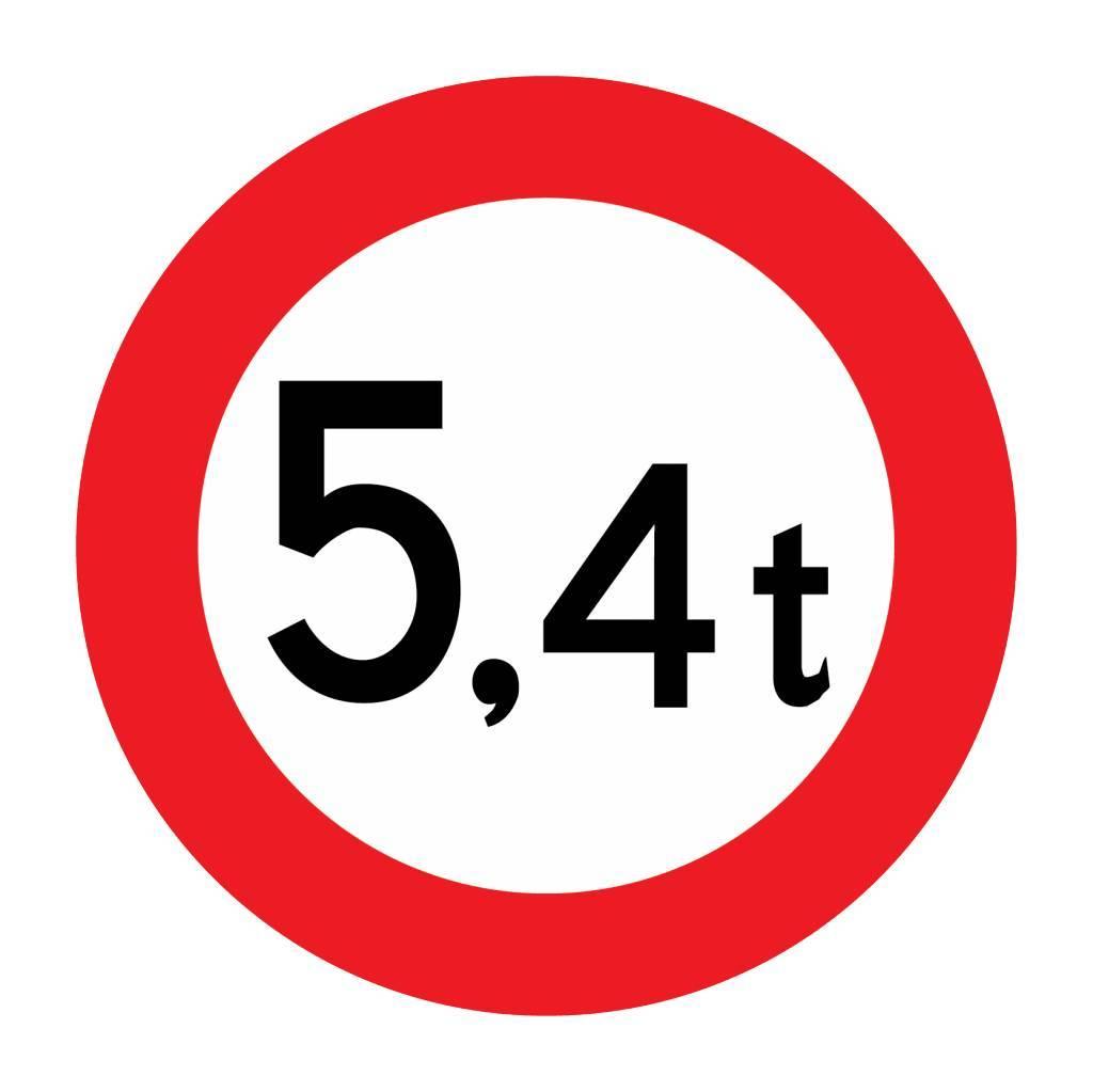 Gesloten voor voertuigen, 5.4 t