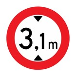 Gesloten voor voertuigen, 3.1 meter