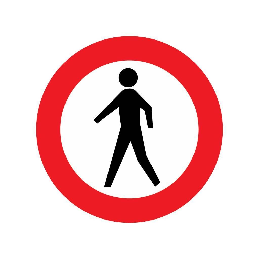Durchgangsverbot für Fußgänger