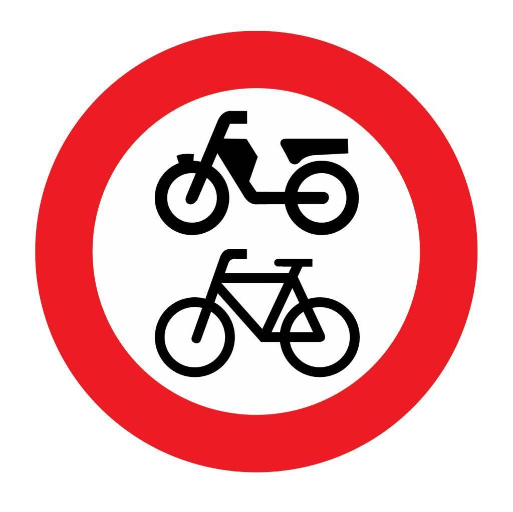 Gesloten voor (brom)fietsen, gehan- dicaptenvoertuigen