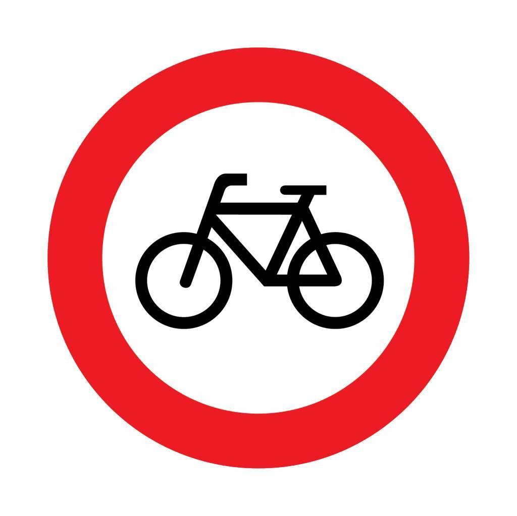 Gesloten voor fietsen en gehan- dicaptenvoertuigen
