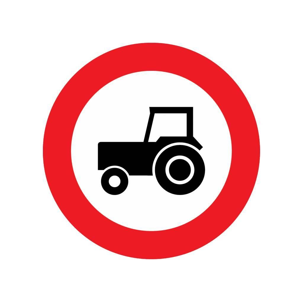Gesloten voor landbouwvoertuigen