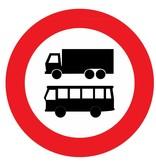 Gesloten voor autobussen en vrachtauto's