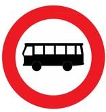 Gesloten voor autobussen