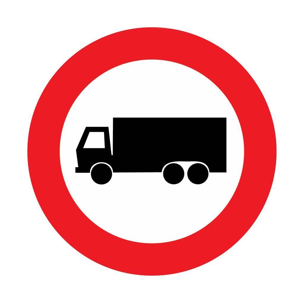 Gesloten voor vrachtauto's
