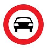 Gesloten voor motorvoertuigen op meer dan twee wielen