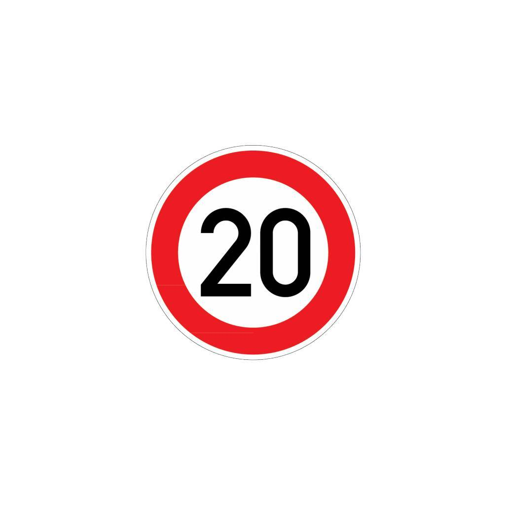 Maximumsnelheid 20 km Sticker