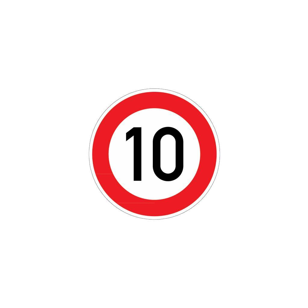 Maximumsnelheid 10 km Sticker