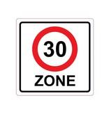 30 km zone Sticker E10(A1-30)