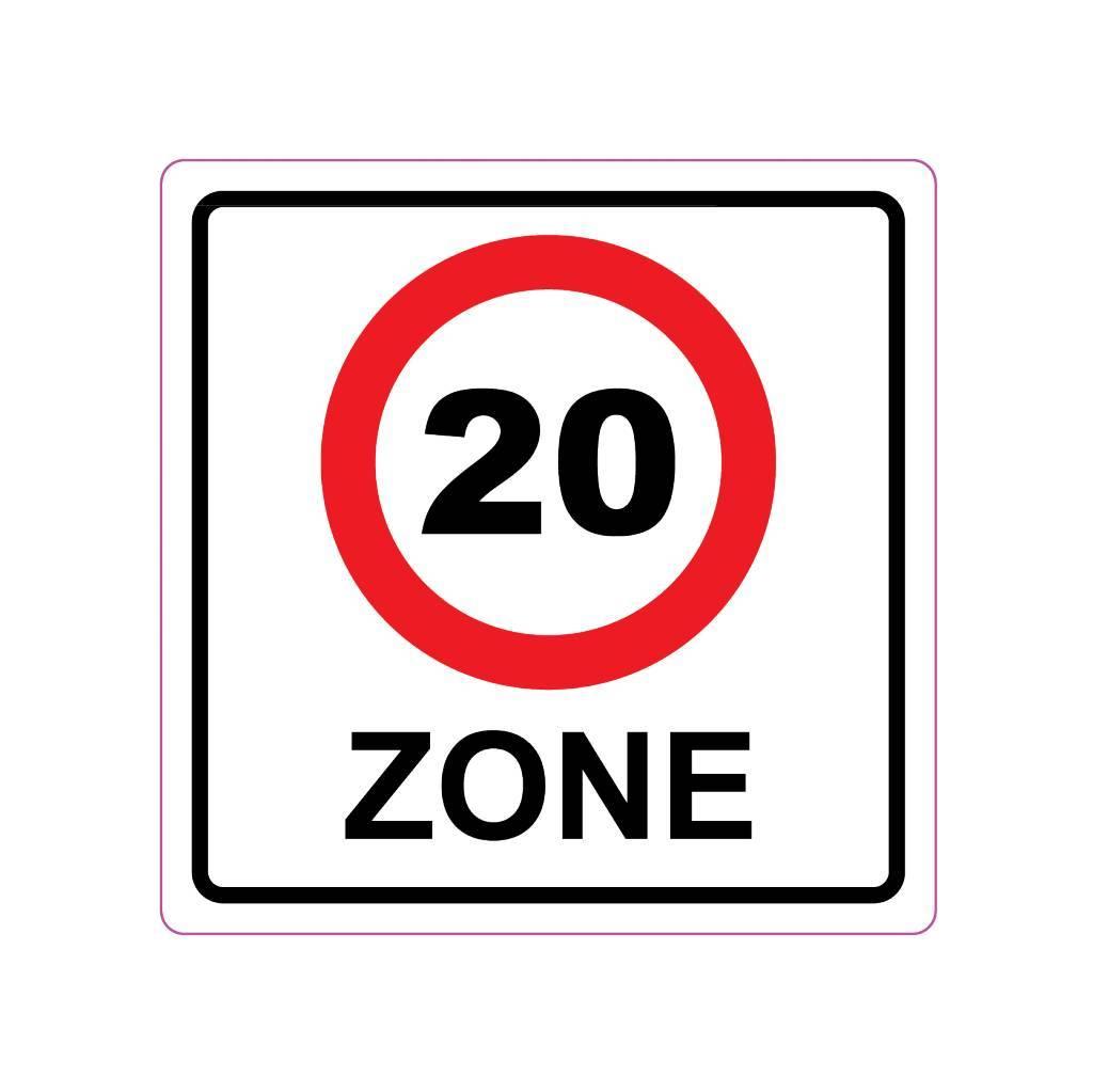 20 km zone Sticker E10(A1-20)