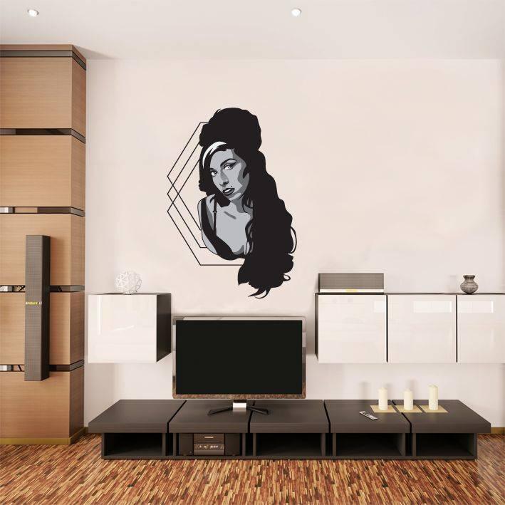 Muursticker Amy Winehouse