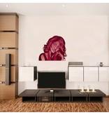 Muursticker Whitney Houston
