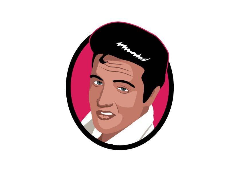 Muursticker Elvis cirkel