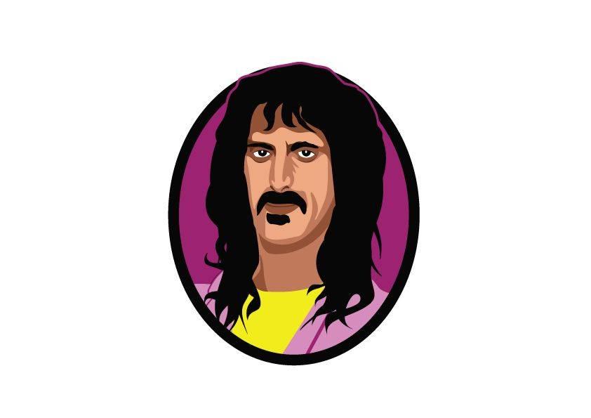 Muursticker Frank Zappa cirkel
