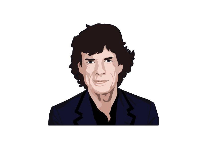 Muursticker Mick Jagger