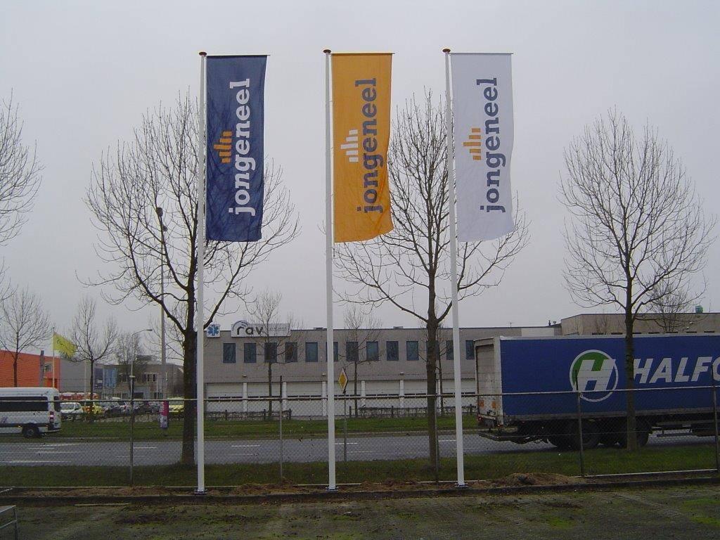 Banier vlaggenmast, kantelbaar