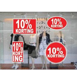 Set 10% korting stickers (4 stickers)