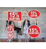 set 15% korting stickers (4 stickers)
