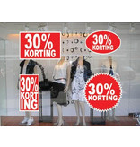set 30% korting stickers (4 stickers)
