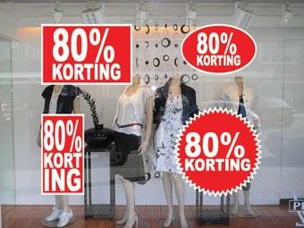 Lot d'autocollants 80% korting  (4 autocollants)