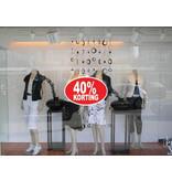 Oval 40% sale Sticker