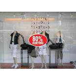 Oval 80% sale Sticker