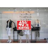"""Rechteckige """"30% korting"""" Sticker auf Niederländisch"""