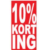Autocollant rectangulaire 10% korting