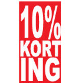 Rechthoekige 10% korting Sticker