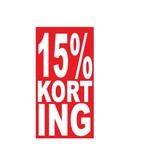 Pegatina rectangular 15% descuento