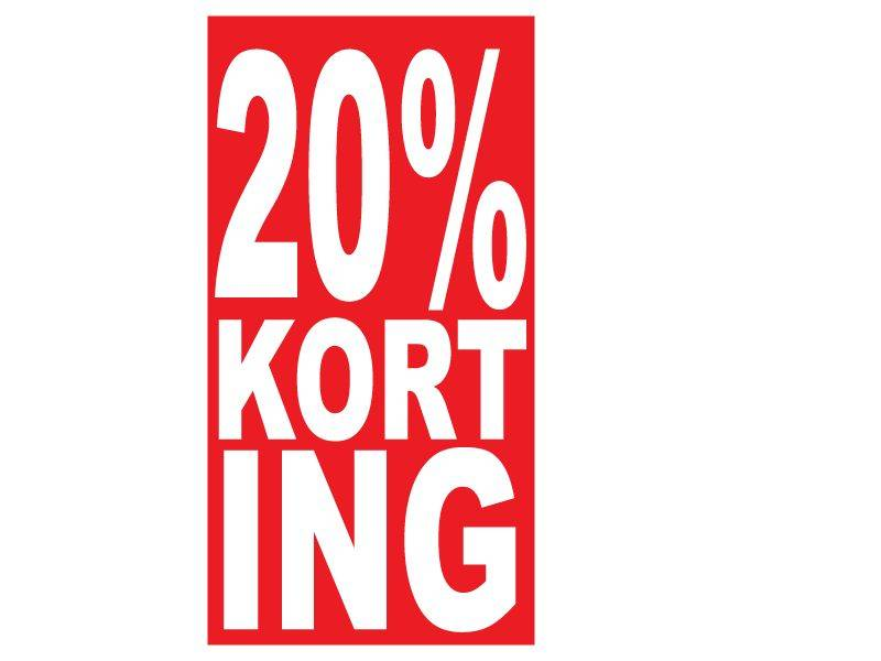 Rechthoekige 20% korting Sticker