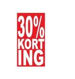 Rechthoekige 30% korting Sticker