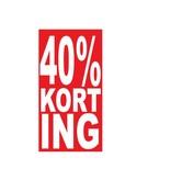 Rectangular 40% sale Sticker